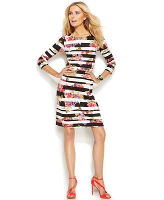 Mixed Print Bodycon Dress