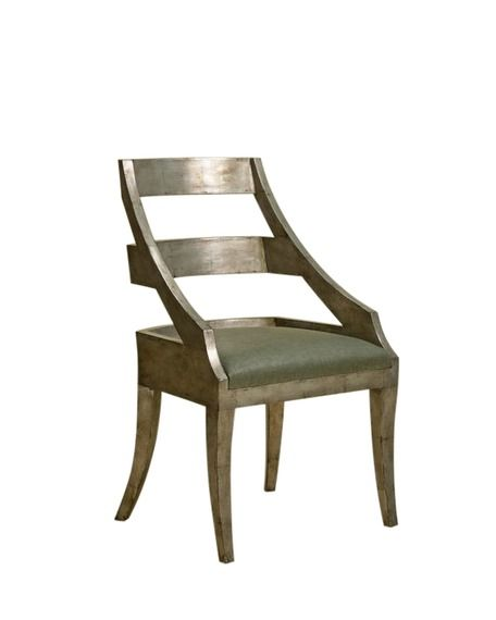 Pleasing Tipperary Dining Arm Chair Silver Leaf By Rose Tarlow Gmtry Best Dining Table And Chair Ideas Images Gmtryco
