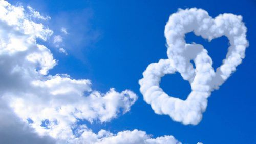 Heart Shaped Cloud 03 Of 57 Animated Double Heart Clouds Love