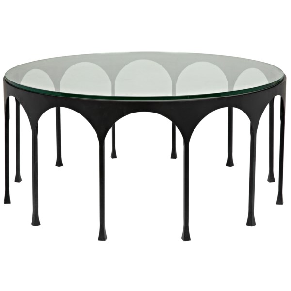 Achille Coffee Table Black Metal Cocktail Tables Coffee Table