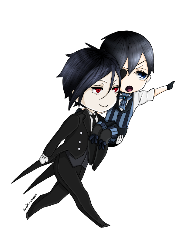Chibi Sebastian and Ciel by suckcrayon | Anime | Pinterest | Chibi ...