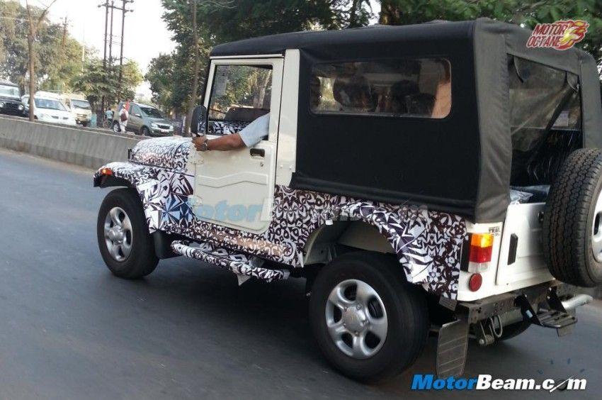Mahindra Thar facelift coming by mid2015 Mahindra thar