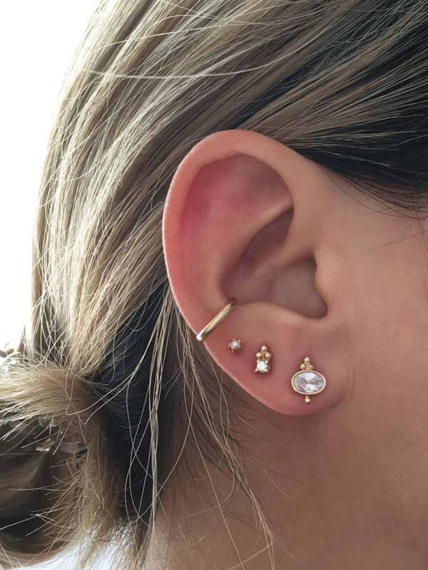 A Guide To Multiple Ear Piercings Con Imagenes Multiples