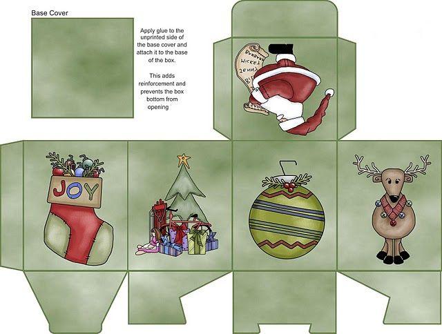 Cajas De Regalo Para Navidad Para Recortar Y Montar Para Niños ...