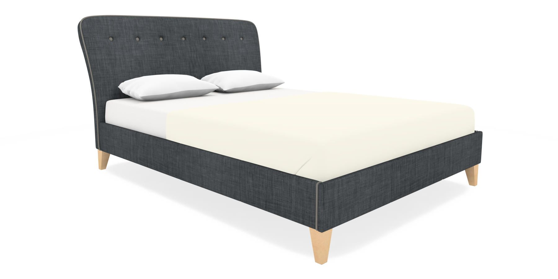 Buy Malmo King Bed Simple Contemporary Charcoal from the Next UK ...
