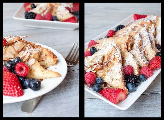 Baked almond French toast