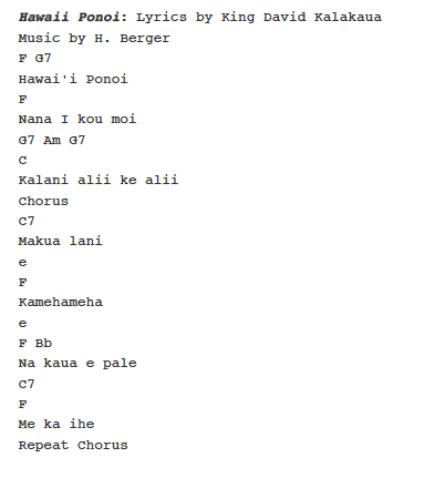 Hawaii Ponoi   PS Learning: \'Ukulele Keiki Sheet Music   Pinterest ...
