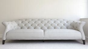 Luxe Modern Large 3 Seater Leather Chesterfield Sofa | furniture ...
