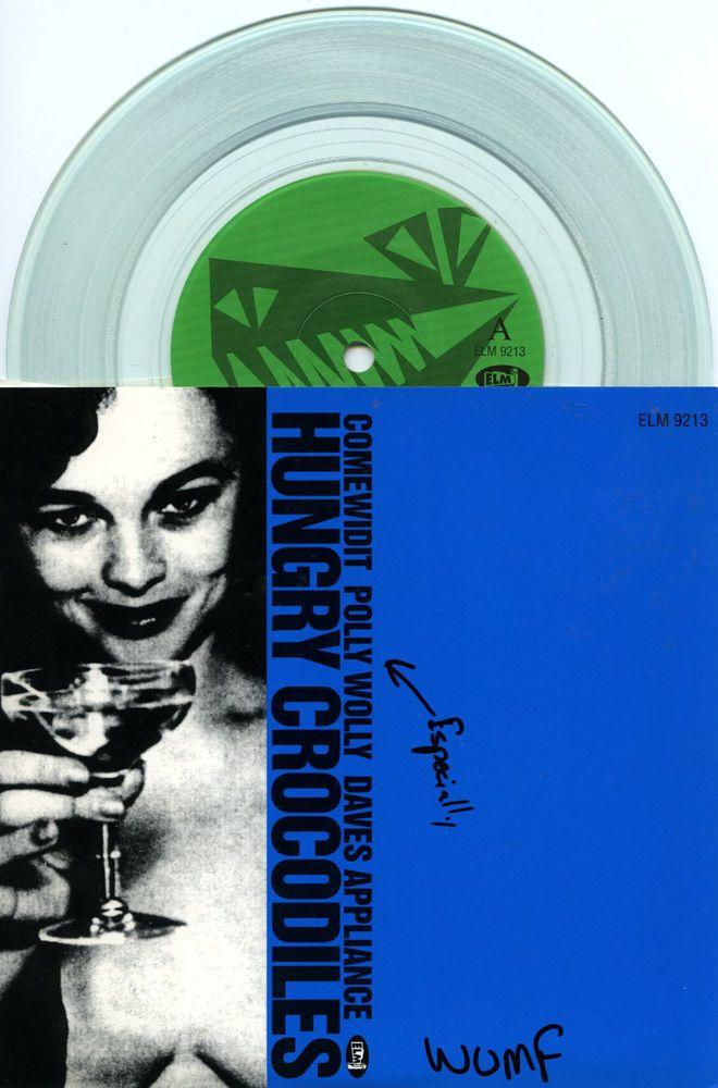 "Hungry Crocodiles 1994 'Comewidit' Funk Metal Ska 7"" Clear Vinyl NM  See all our Vinyl at Rock On Collectibles: http://stores.ebay.com/Rock-On-Collectibles/Vinyl-LPs-Singles-/_i.html?_fsub=7421951&_sid=70220124&_trksid=p4634.c0.m322"