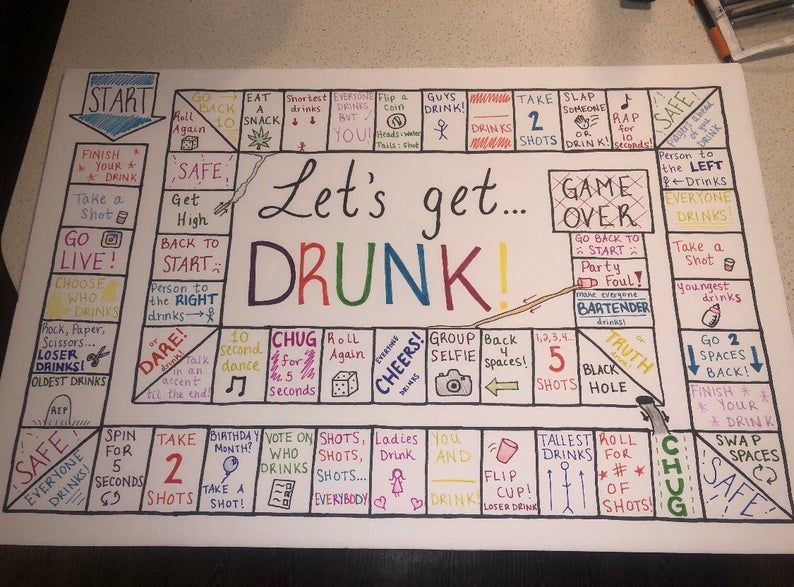 Let's Get Drunk! Party Board Game