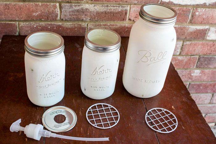 Diy Mason Jar Bathroom Set Candle Jars Pinterest Mason Jar