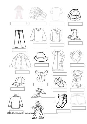 Clothes Vocabulary English 4th Grade Pinterest Worksheets Printable Worksheets And Activities