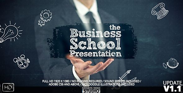 businessschoolcollege presentation   template, Presentation templates