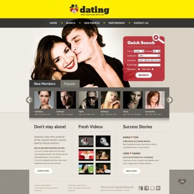 Dating Website Template Dating Template And Website Themes - Dating website template