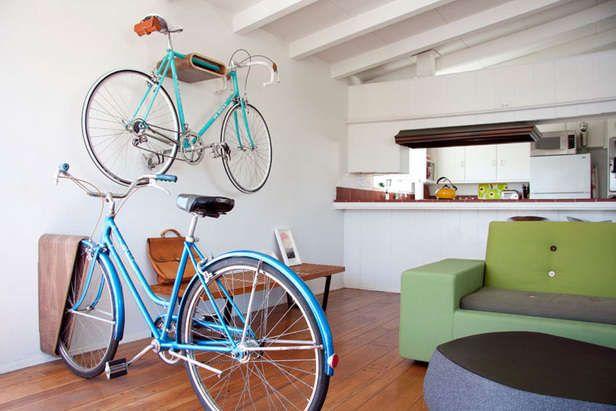 예술적으로 장착 자전거 랙 : 자전거 랙 문 자전거