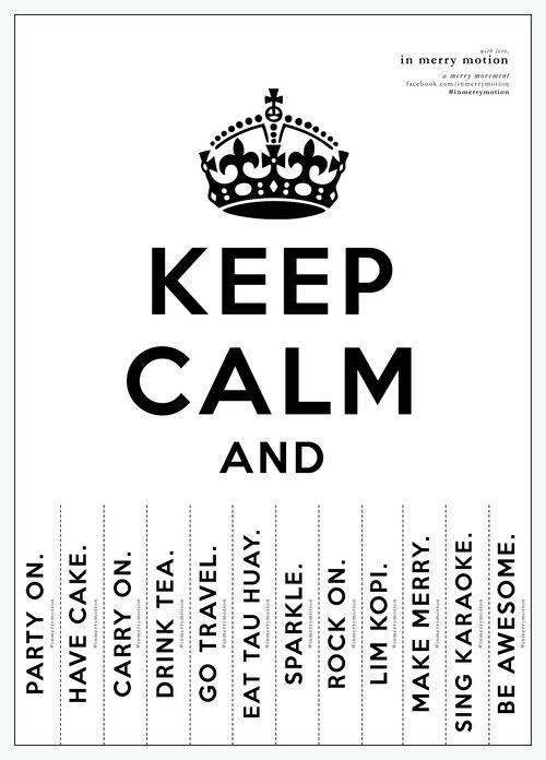 Keep Calm Printable! - digitally crafted by In Merry Motion In