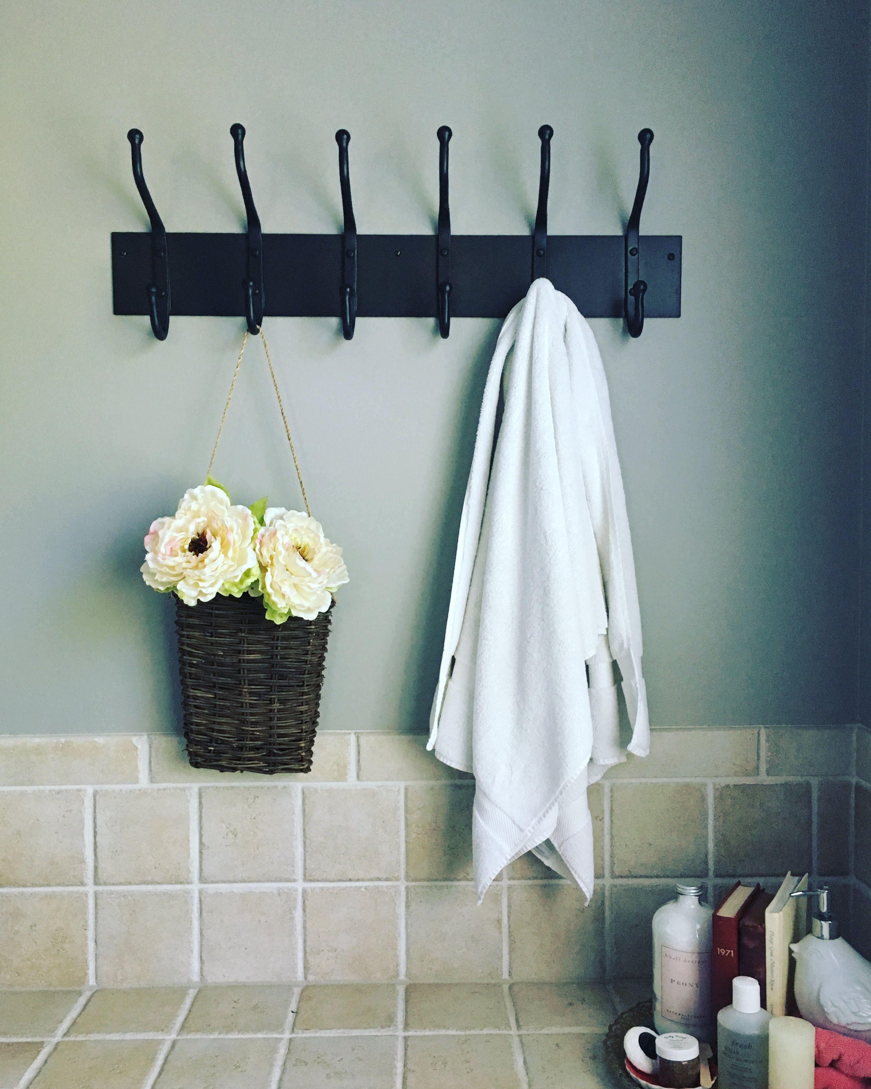 Bathroom necessities. Iron wall hooks. | Bathroom Inspiration ...