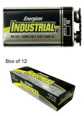 Energizer Batteries En22 9v Industrial Alkaline Battery With Cap Protectors Usa 2017 Date Www Batteriesandbu Energizer Battery Energizer Alkaline Battery