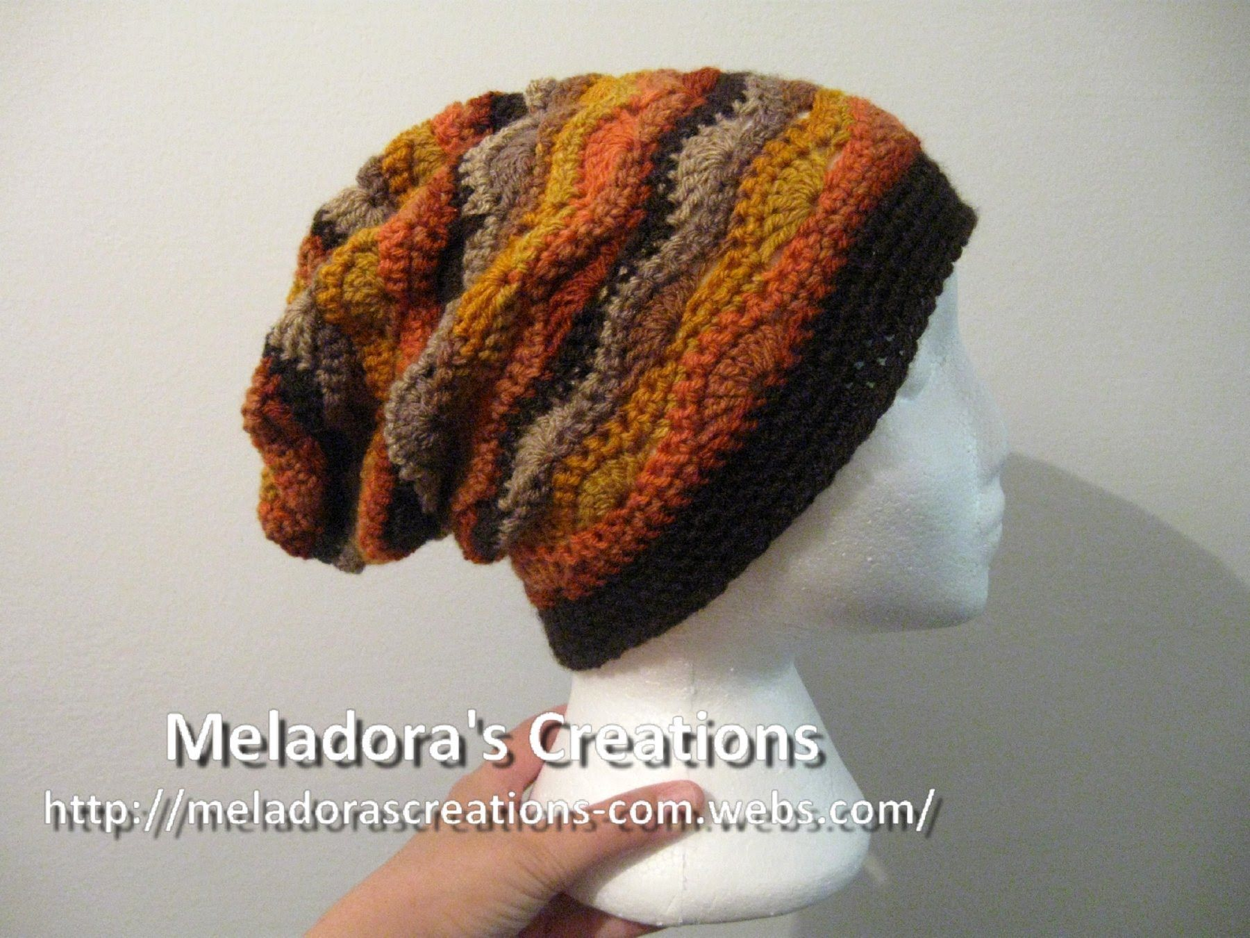 Crochet tutorial that teaches you how to make a crocheted slouch hat ...