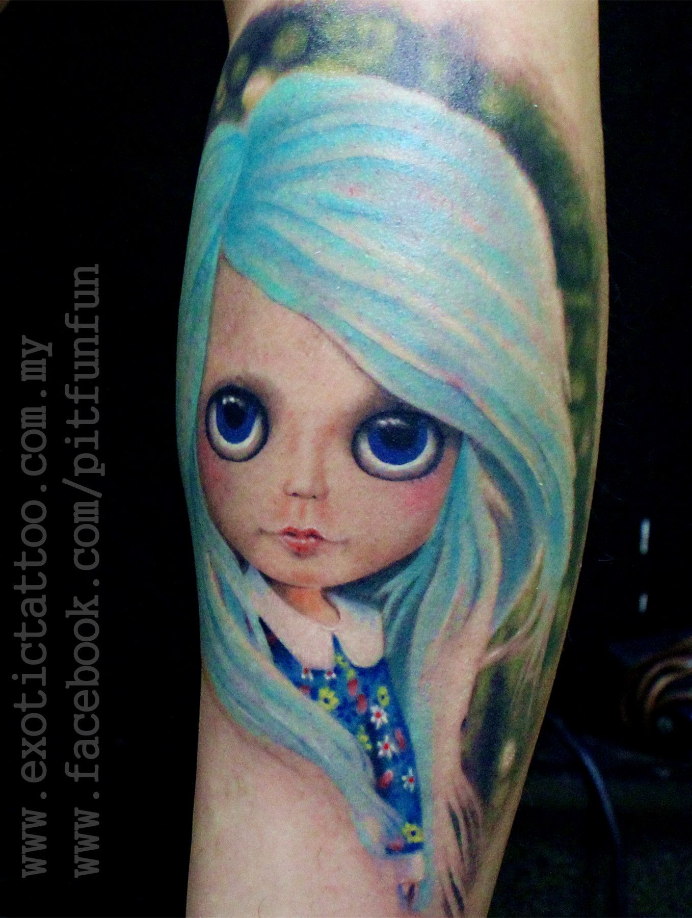 Black Baby Doll Tattoo: Blythe Doll Tattoo , Thanks To Ben All The Way From Johore