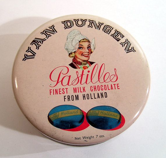 Vintage Advertising Tin Van Dungen Dutch Girl Holland tin from oneredhen on Etsy.