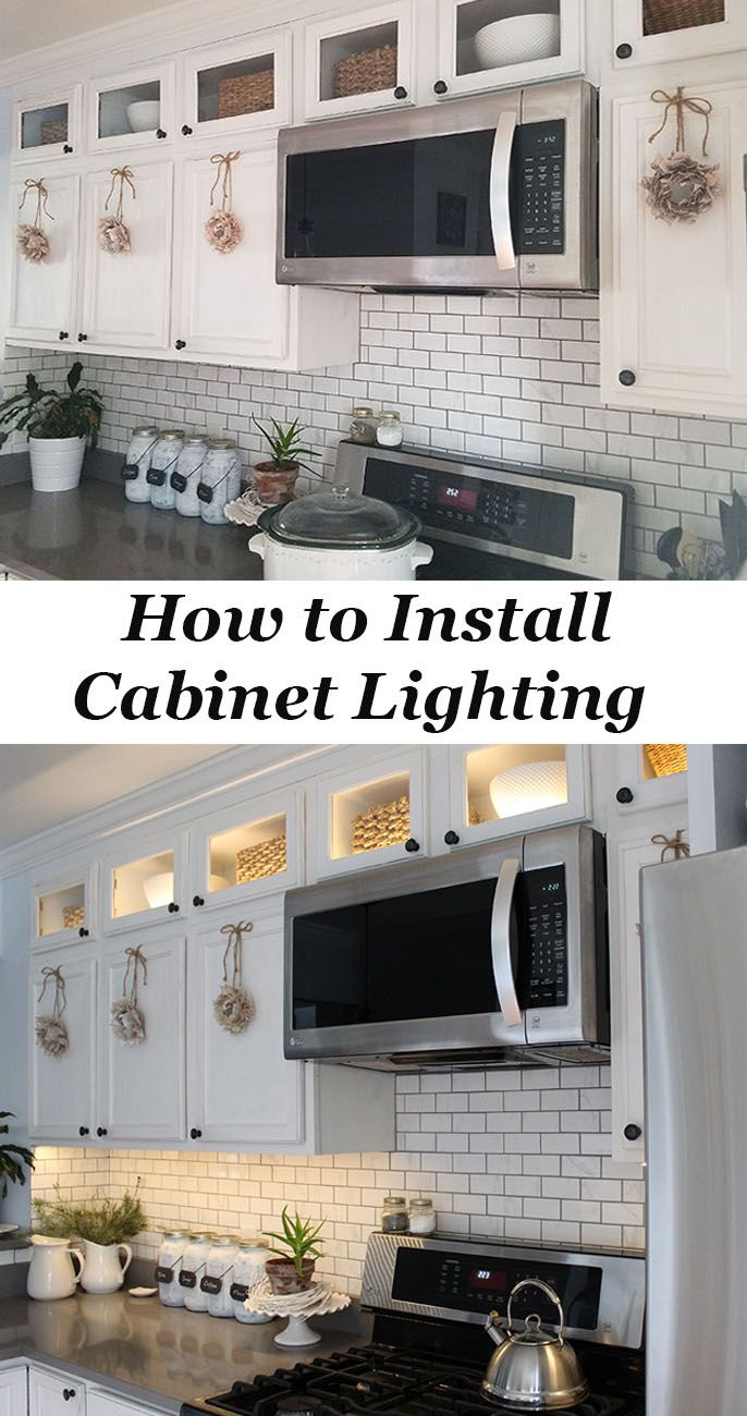 How To Install Kitchen Cabinet Lighting The Honeycomb Home Upper Kitchen Cabinets Installing Kitchen Cabinets Kitchen Cabinets