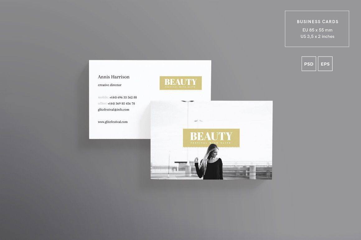 Business card beauty festival amber graphics business cards business card beauty festival amber graphics reheart Choice Image