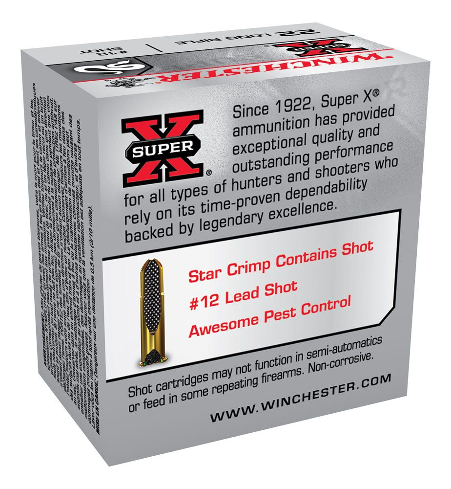 Winchester Super X Rat Shot 22LR 12 shot 0.169
