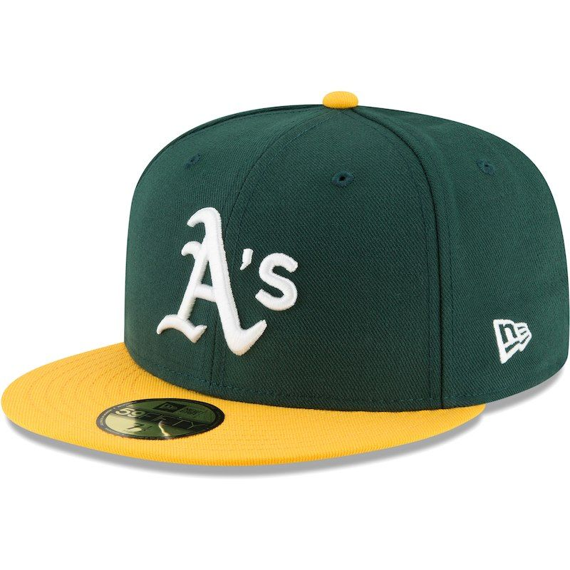 Oakland Athletics New Era Team Local 59fifty Fitted Hat Green Oakland Athletics Fitted Hats New Era