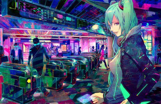 Cross Connect Magazine Cyberpunk Anime Hatsune Miku Anime