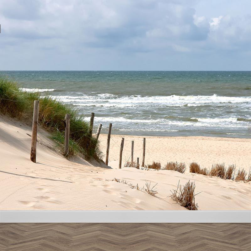 Fotobehang Strand Zee.Fotobehang Zee Strand En Duinen Met Gratis Digitale Drukproef