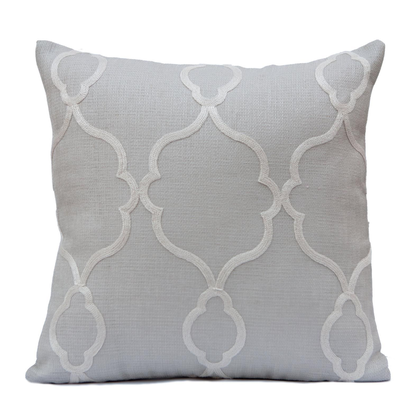 Light Grey Pillow Throw Pillow Cover Decorative Pillow Etsy