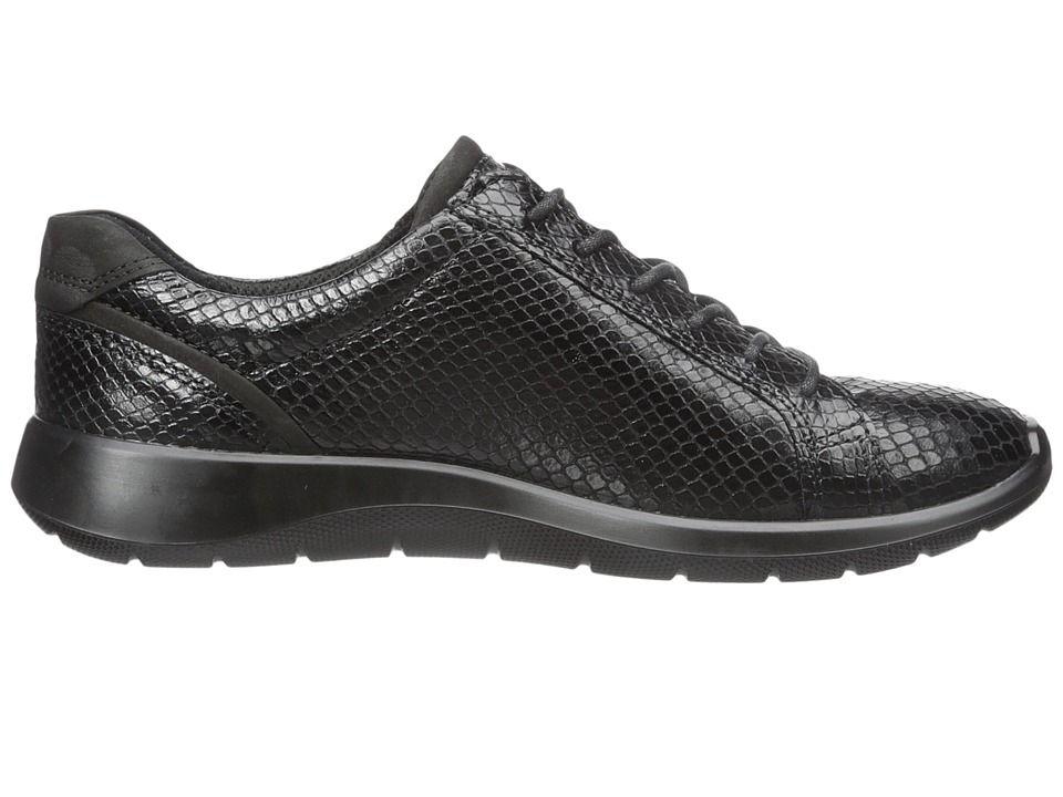 464b7b59f ECCO Soft 5 Zip Sneaker Women s Lace up casual Shoes Black Black ...