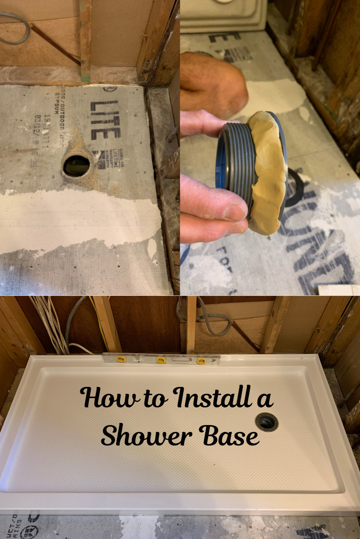 Learn How To Install A Shower Base And Update Your Shower Let Us