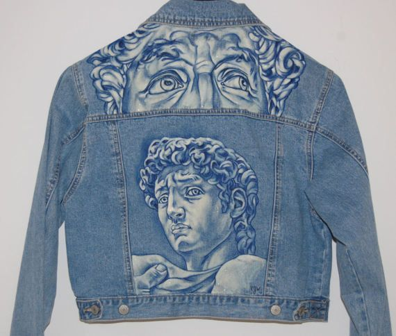 Custom Hand Painted Denim Jeans and Jackets #wearableart