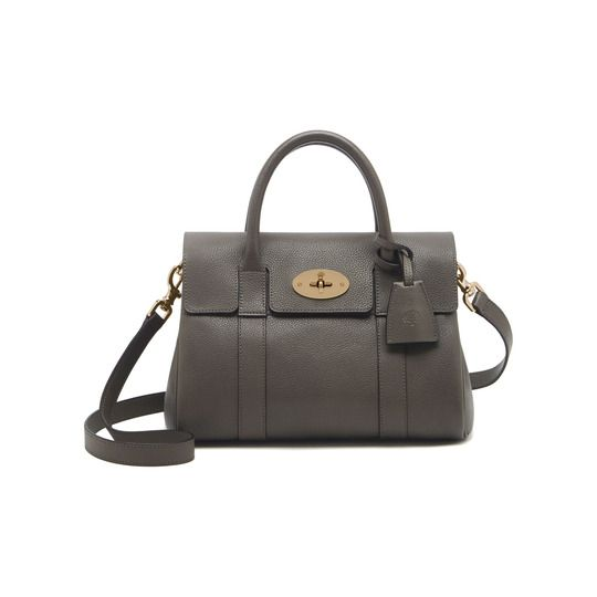 c14bd193f4 Mulberry Small Bayswater Satchel in Mole Grey