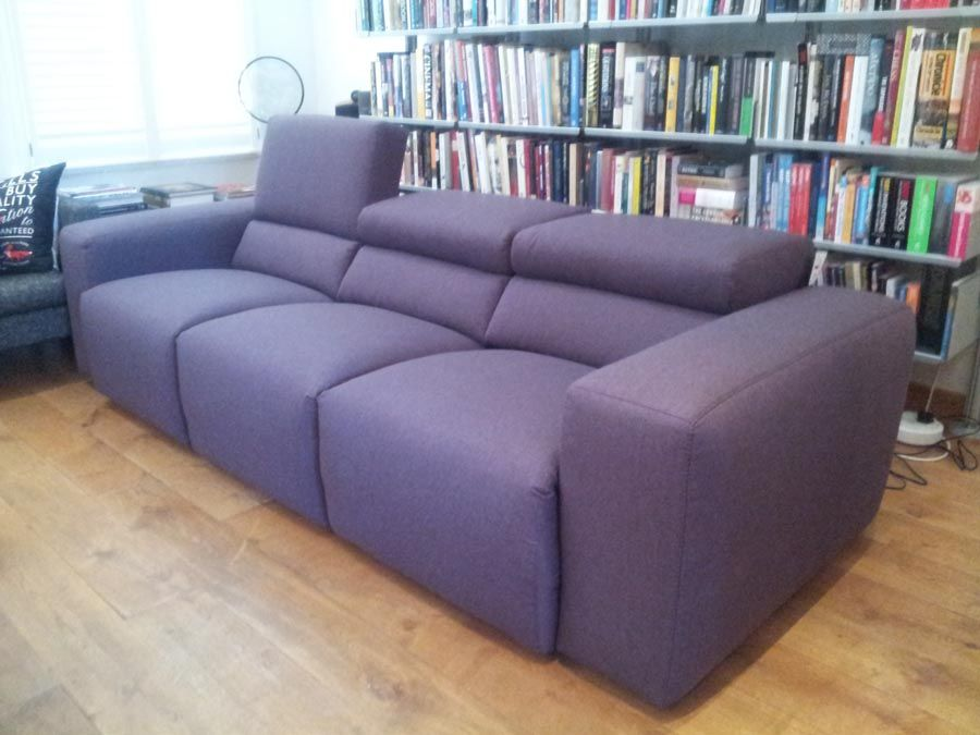 Fabulous Binari Modern Recliner Sofa This Size Is A 3 Seater 78Cm Frankydiablos Diy Chair Ideas Frankydiabloscom