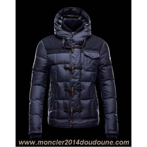 France Moncler Virgile Mens Down Jackets Hooded Blue Outlet