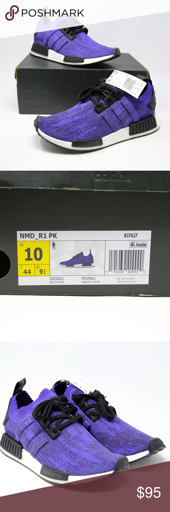 lowest price 51d4c 63bc0 adidas NMD R1 PK Purple Running Shoes Primeknit 10 adidas ...