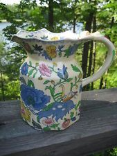 "Masons Ironstone Regency Pattern 4475 Pitcher 6 3/4"" tall"