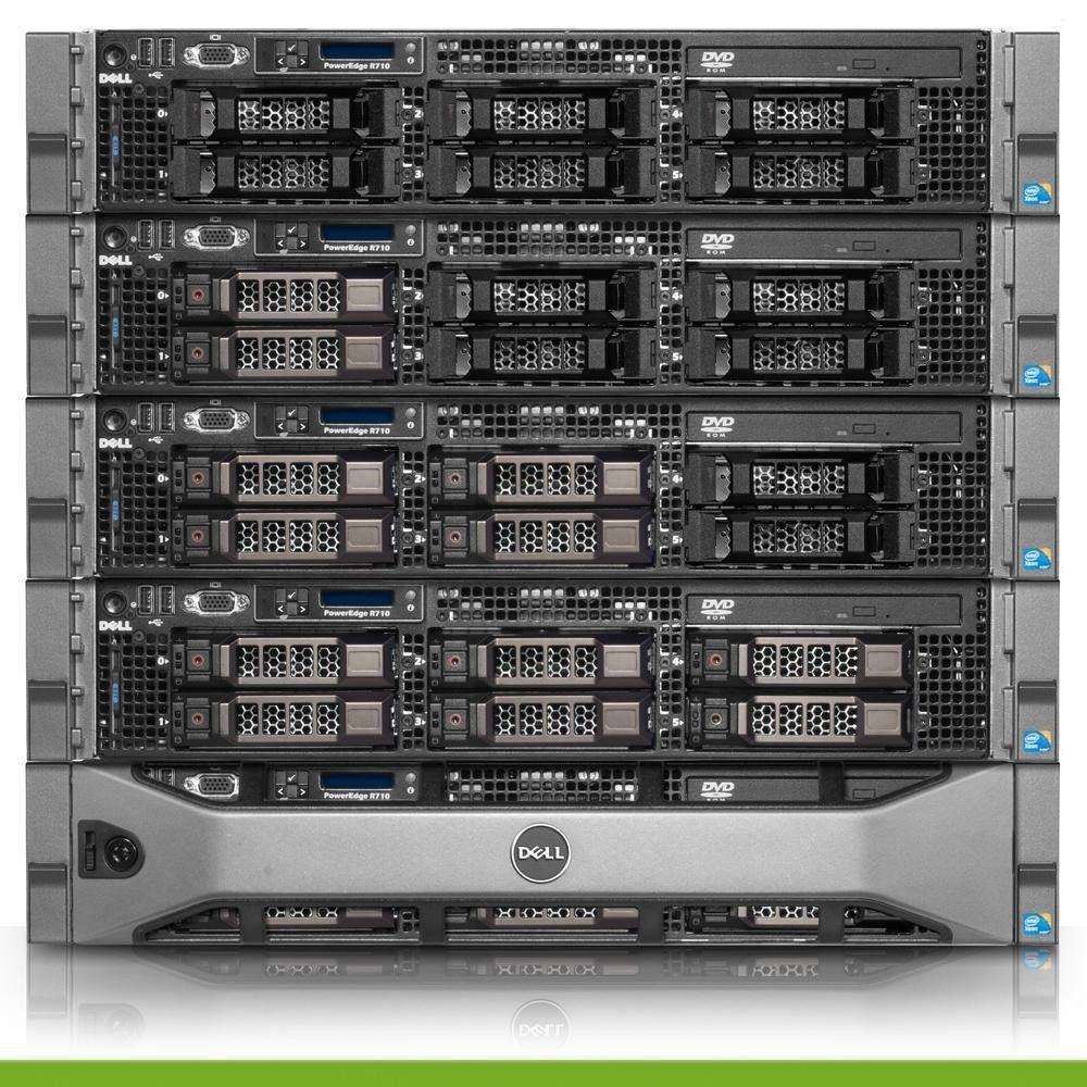 Dell PowerEdge R710 Server 2 26GHz 8-Cores 4GB RAM 8x Trays