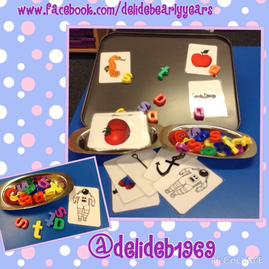 Match The Initial Sound To The Pictures Magnetic Letters On A Baking Tray Pictures From Sparklebox Initial Sound Activities Initial Sounds Letter Sorting [ 1024 x 1024 Pixel ]