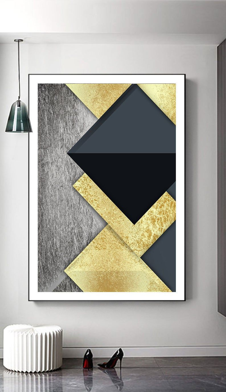 Geometric Art Print Digital Printable Instant Download Wall Etsy Geometric Art Prints Geometric Art Diy Canvas Wall Art