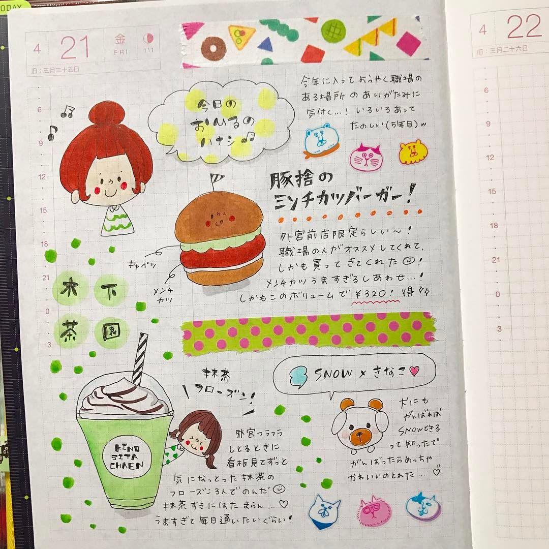 04/21のほぼ日手帳! * #ほぼ日手帳 #ほぼ日 #hobonichi #マスキング