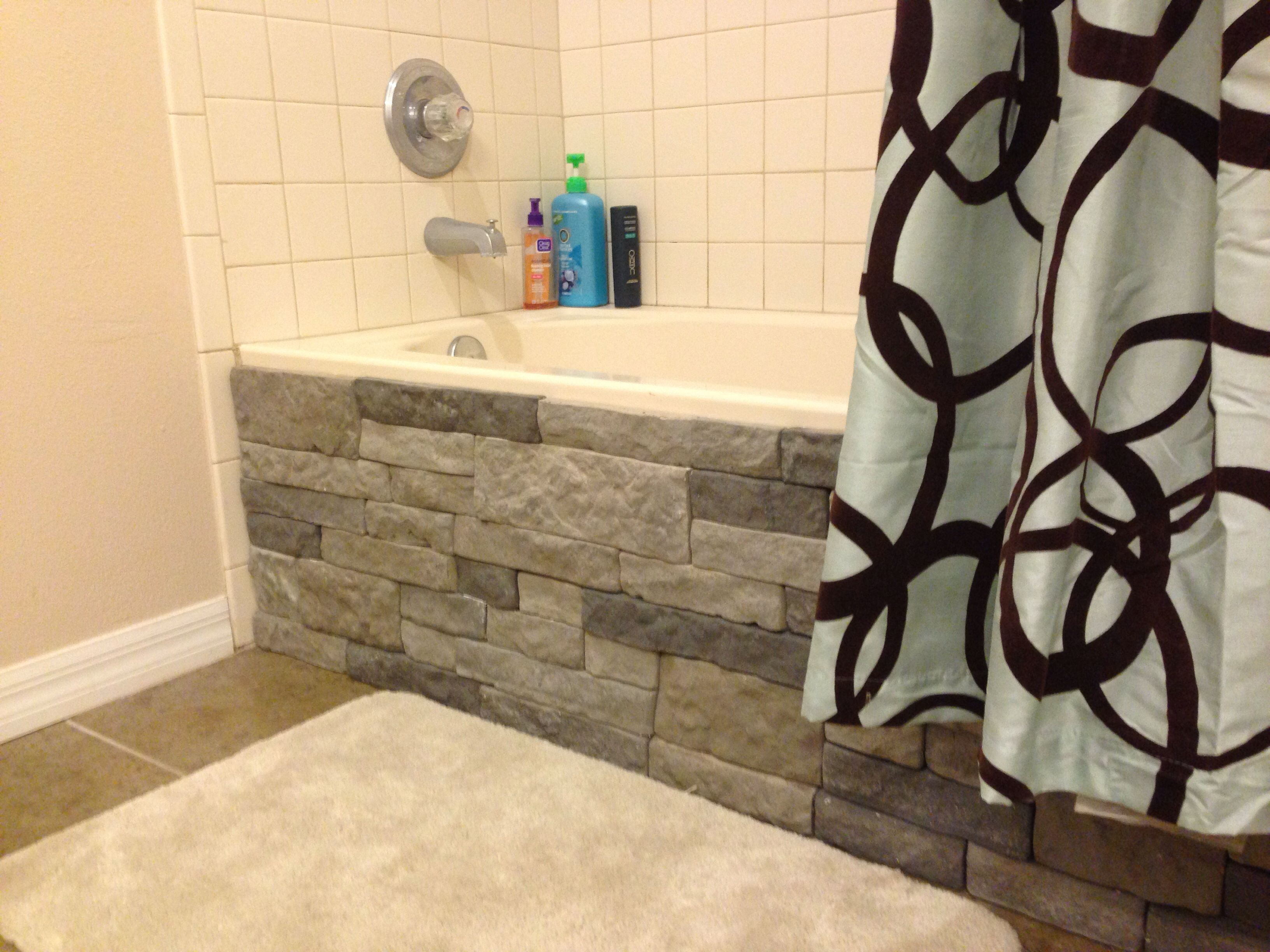 Stunning Exterior Design With Genstone Panels Stacked Stone - Lowes bathroom tile for walls for bathroom decor ideas