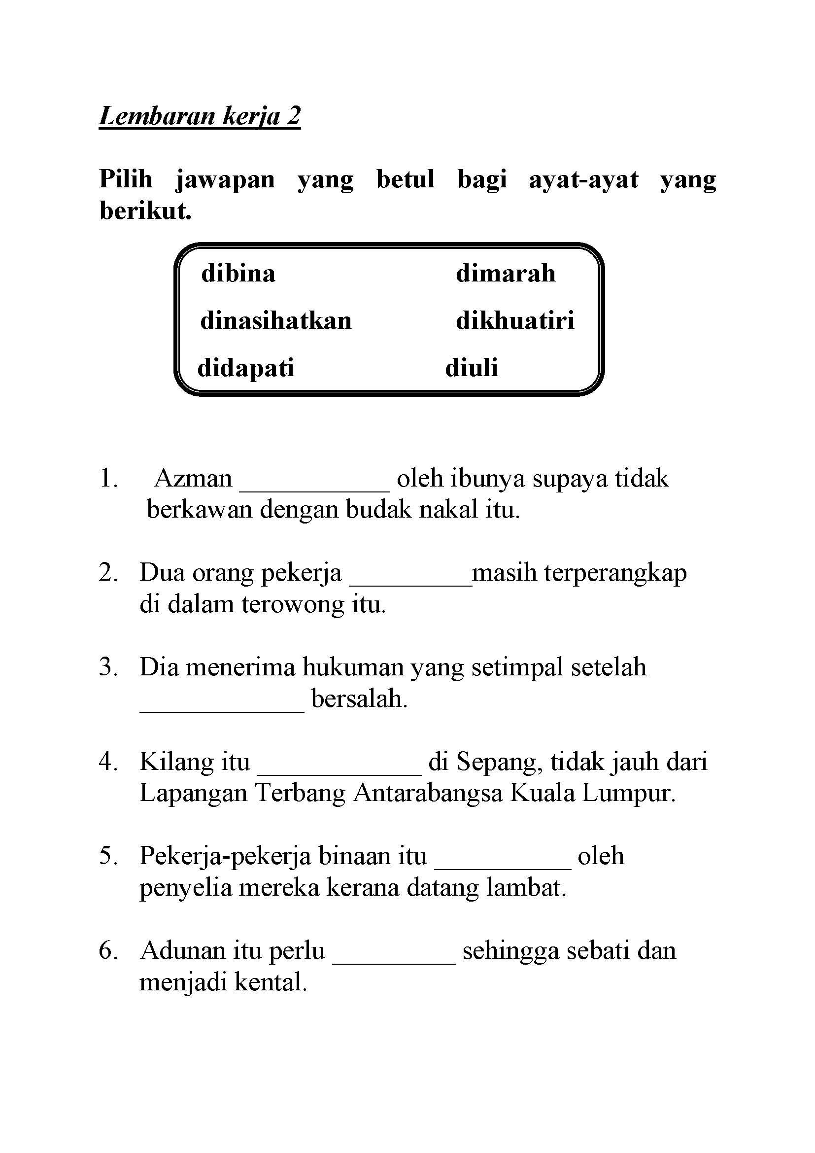 Image Result For Kata Kerja Imbuhan Darjah 1 Abc