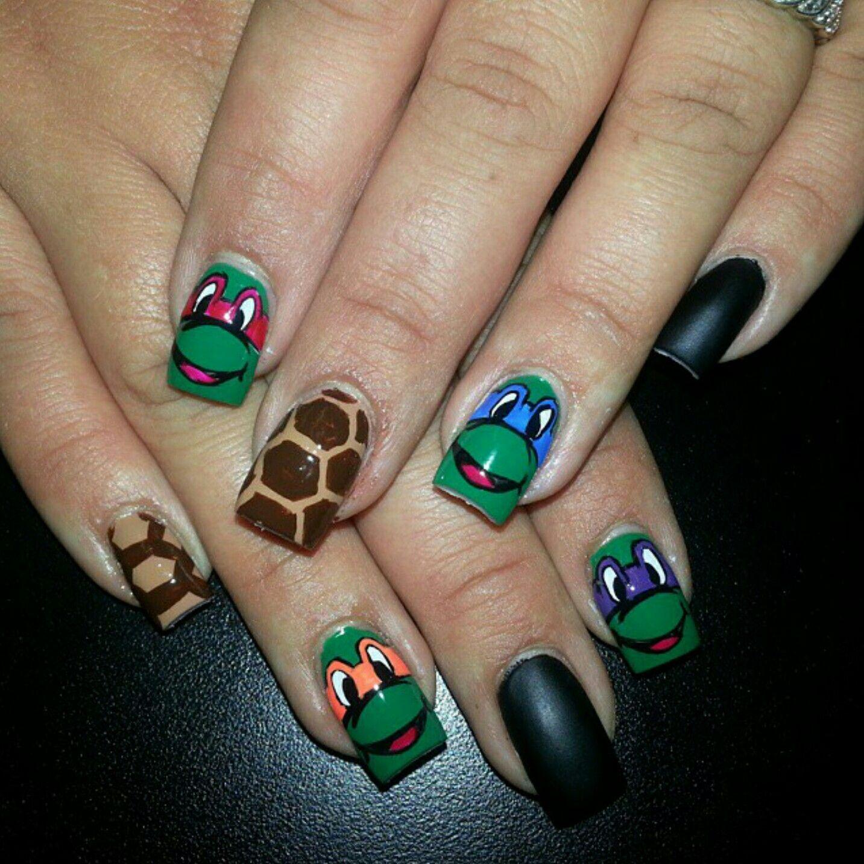 Ninja turtles Nail art Nail designs Nail themes | Nails by Brittney ...