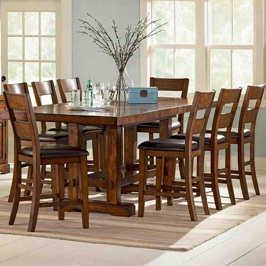 High Top Dining Table With 8 Chairs Counter Height Dining Sets Counter Height Dining Table Dining Table 8 chairs dining room set