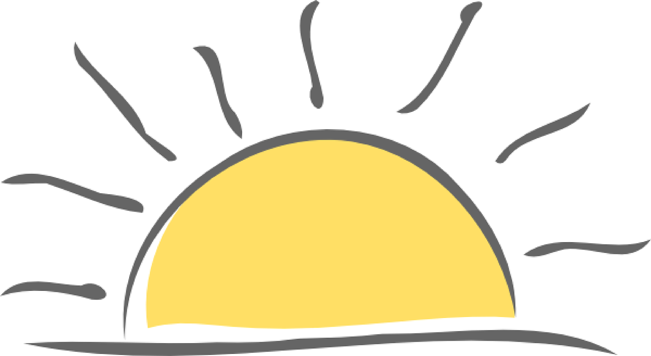 Free Image On Pixabay Sun Rising Ocean Sunrise Sky Clip Art Sunrise Drawing Sunrise