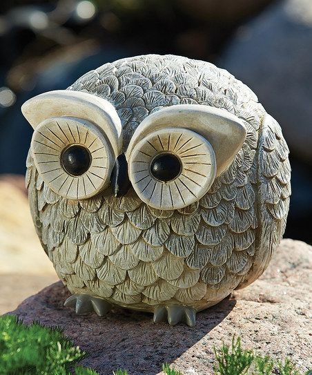 Gray Owl Statue